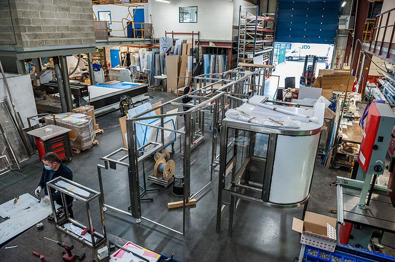 Atelier JDS pour la fabrication de carters de protection